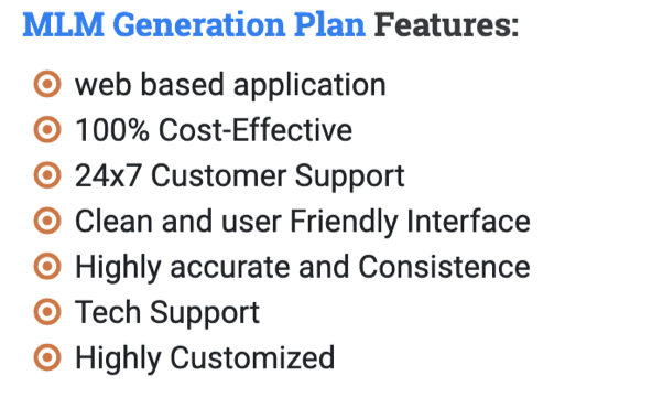 Generation Plan and Software